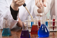 Working in a lab Royalty Free Stock Images