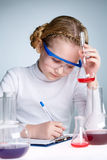 Working in laboratory Royalty Free Stock Images