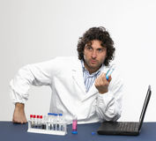 Working in the laboratory Stock Image