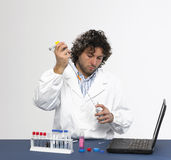 Working in the laboratory Stock Photography