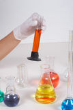 Working in laboratory Stock Images
