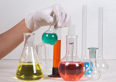 Working in laboratory Royalty Free Stock Photography