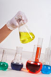 Working in laboratory Royalty Free Stock Photos