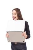 Working lady isolated on white Stock Image