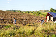 Working on the land in the countryside from Myanmar Stock Photography