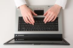 Working with the laptop Royalty Free Stock Image