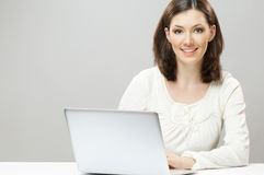 Working in a laptop Stock Photos