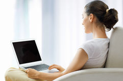 Working in a laptop Royalty Free Stock Photo