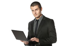 Working on laptop Royalty Free Stock Photos