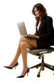 Working on laptop royalty free stock photo