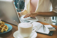 Working with laptop Royalty Free Stock Photography