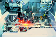 Working laser PCB processing machine Royalty Free Stock Photos