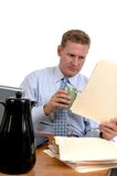 Working Late Stock Image