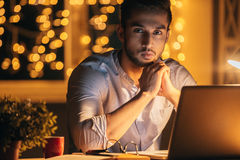 Working late again. Royalty Free Stock Photos