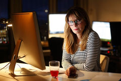 Working late Stock Images