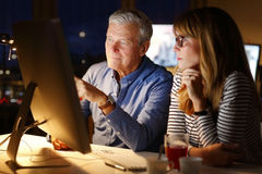 Working late Royalty Free Stock Photo