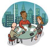 Working Late Tonight Royalty Free Stock Image