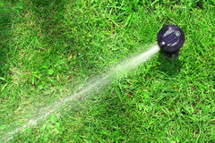 Working lawn sprinkler Royalty Free Stock Photos