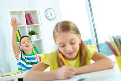 Working at lesson Royalty Free Stock Image