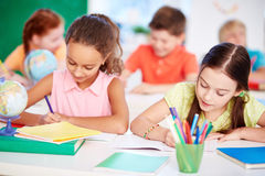 Working at lesson Stock Image