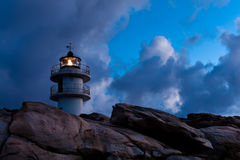 Working Lighthouse at Bad Weather Royalty Free Stock Photo