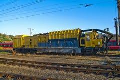 Working locomotive stock image