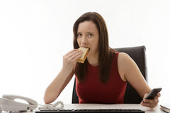 Working lunch Royalty Free Stock Photos
