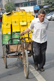 A working man, China. Royalty Free Stock Photography