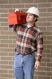 Working Man Faces Future Royalty Free Stock Image