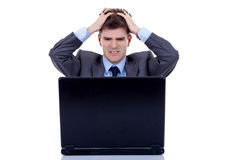 Working man is frustrated Royalty Free Stock Photos