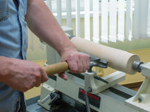The working man handles the wood element Stock Photos
