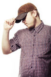 Working man locked cap Stock Photography