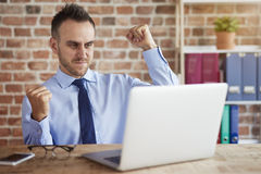 Working man at the office Stock Photography