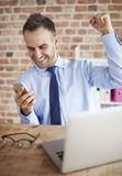 Working man at the office Royalty Free Stock Photo