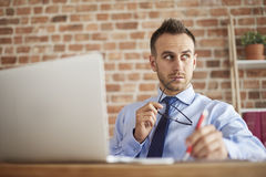 Working man at the office Royalty Free Stock Image