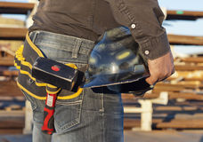 Working man ready to work Stock Image