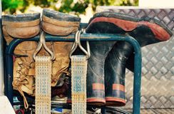 Working Man's Boots Royalty Free Stock Image