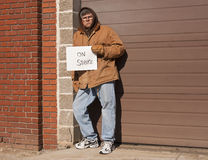 Working man on strike Royalty Free Stock Photo