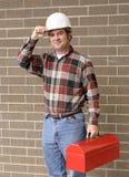 Working Man Tips Hat Royalty Free Stock Photos