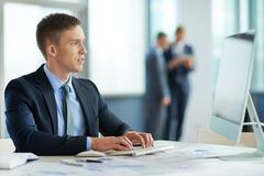 Working manager Royalty Free Stock Photos