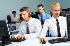 Working managers Royalty Free Stock Image