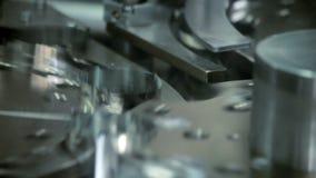 Working manufacturing equipment. Turning manufacturing machine stock video