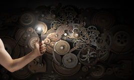 Working mechanism Royalty Free Stock Images