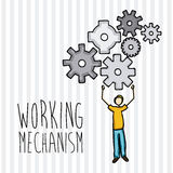 Working mechanism Stock Image