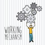 Working mechanism Stock Image