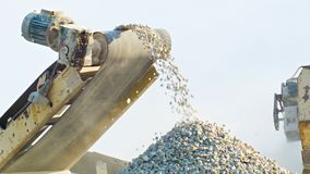 Working mechanism of stone crusher Royalty Free Stock Photo