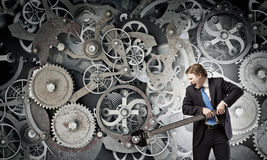 Working mechanism Royalty Free Stock Photos