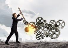 Working mechanism Stock Photo