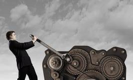 Working mechanism Royalty Free Stock Image
