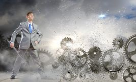 Working mechanism Royalty Free Stock Image